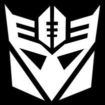 My flag football team logo - the Recepticons